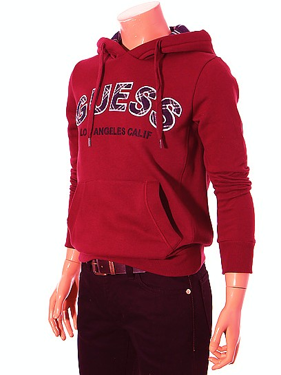 sweat guess rouge,sweat shirt guess promo,sweat capuche
